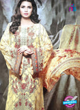NS10186 Yellow and Brown Party Wear faux Georgette Pakistani Suit