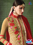 AZ 3386 Brown And Red Georgette Fancy Designer Party Wear Suit Online