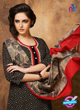 Rivaa 204A Black & Red Color Cotton Designer Suit