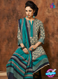 Rivaa 205A Blue & Grey Color Cotton Designer Suit