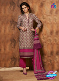 Rivaa 205B Pink & Grey Color Cotton Designer Suit