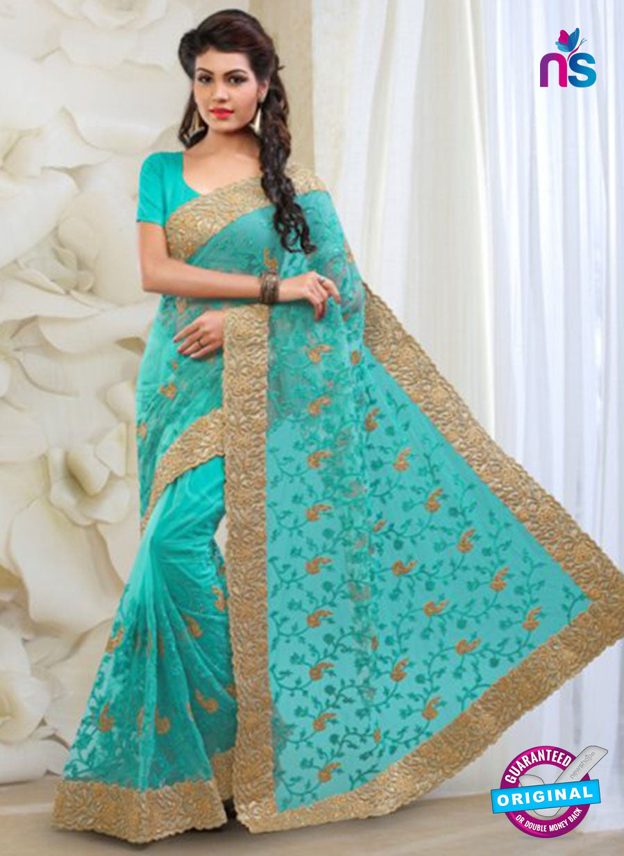 AZ 2029 Sky Blue Net Fancy Party Wear Saree