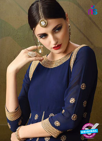 AZ 3389 Blue And Brown Georgette Fancy Designer Indo Western Suit