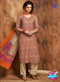 Rivaa 206B Beige & Orange Color Cotton Designer Suit