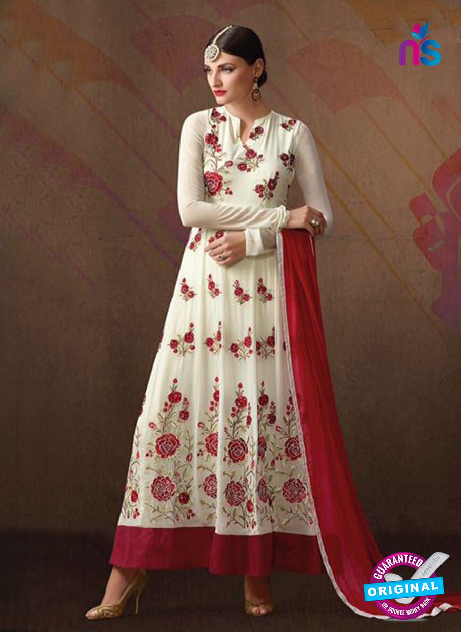 AZ 3390 White Georgette Fancy Designer Anarkali Suit