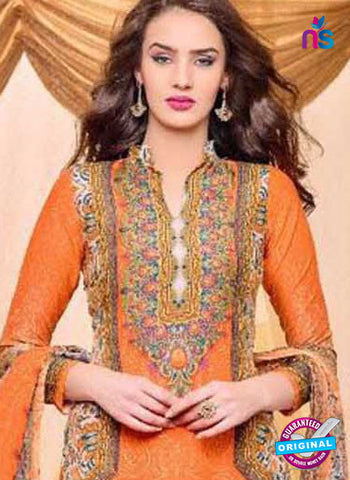 Kaheera 207 Orange Pakistani Suit