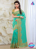 AZ 2031 Sea Green Silk Fancy Party Wear Saree