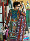 SC 12648 Multicolor and Orange Printed Cambric Pakistani Suit Online
