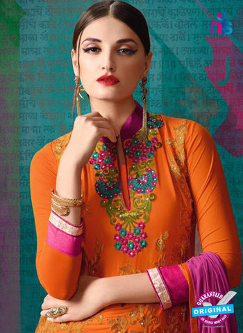 AZ 3391 Orange And Pink Georgette Fancy Designer Party Wear Suit Online