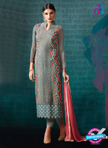 AZ 3392 Grey Georgette Fancy Designer Party Wear Suit