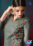 AZ 3392 Grey Georgette Fancy Designer Party Wear Suit Online
