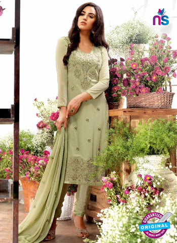 AZ 5244 Green Georgette Designer Straight Suit