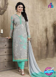 SC 12266 Grey and  Sea Green Embroidered Pure Lawn Cotton Suit