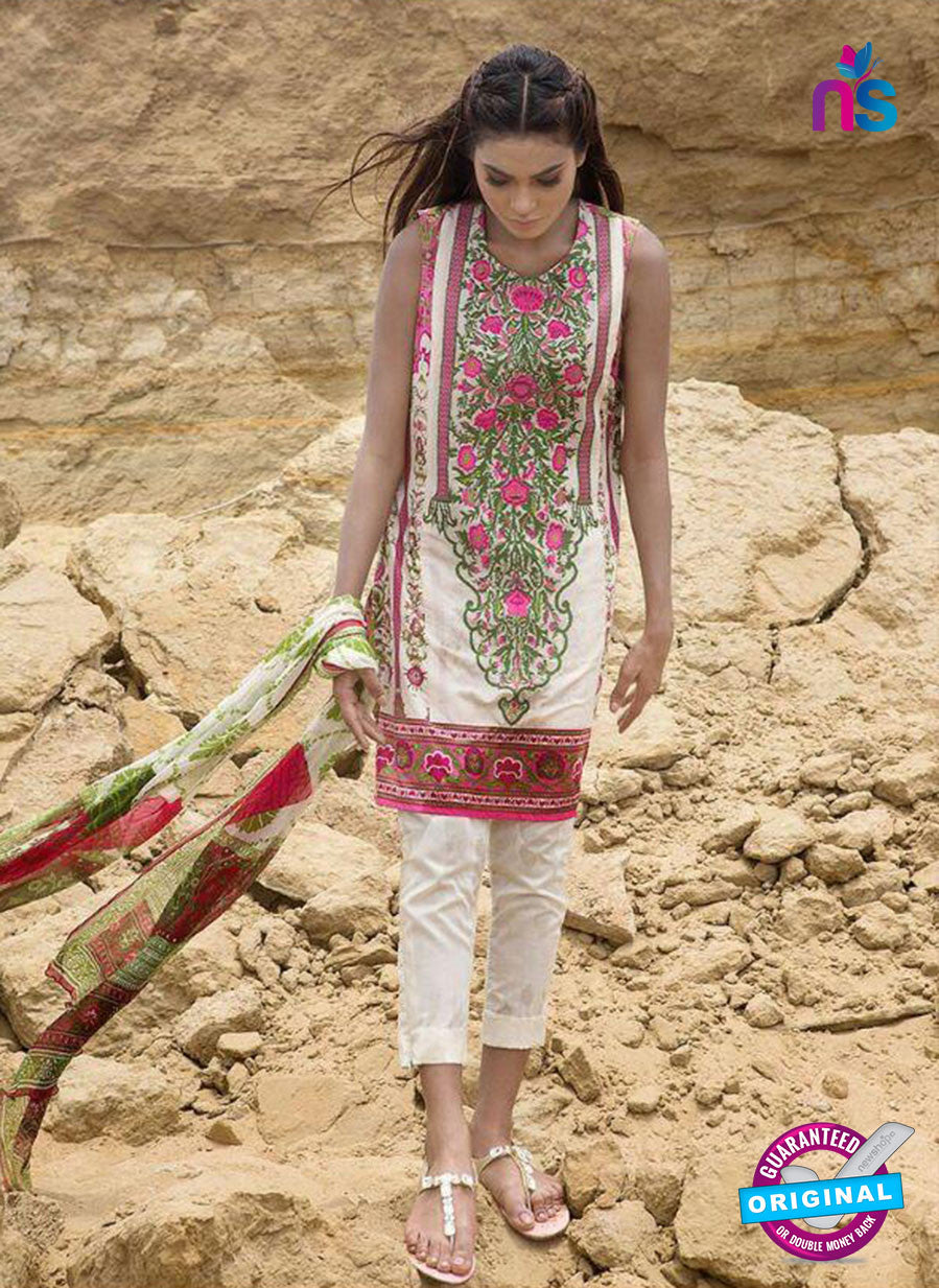 SC 13810 White Designer Fancy Traditional Cotton Satin Suit