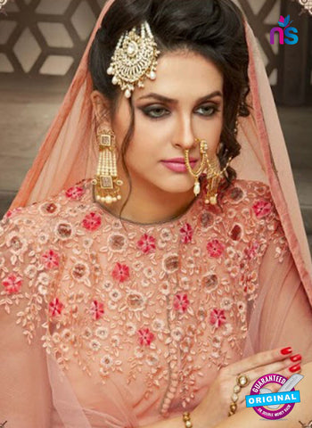AZ 4026 Peach Georgette Anarkali Suit