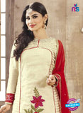 SC 12262 Beige and Red Embroidered Pure Lawn Cotton Suit Online