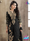 SC 12265 Black and Golden Embroidered Pure Lawn Cotton Suit Online