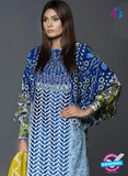 SCDDZ 13811 Blue Designer Fancy Traditional Cotton Satin Suit