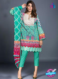 SC 13808 Sea Green Designer Fancy Traditional Cotton Satin Suit