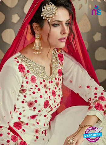 Mehak 21004 White Georgette Party Wear Suit Online