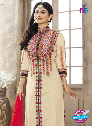 SC 12267 Beige and Multicolor Embroidered Pure Lawn Cotton Suit