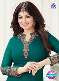 Fiona 21005 Green Embroidered Georgette Party Wear Straight Suit