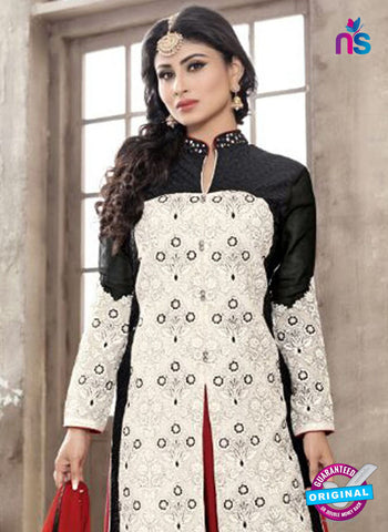 SC 12260 Black, White and Maroon Embroidered Pure Lawn Cotton Suit Online