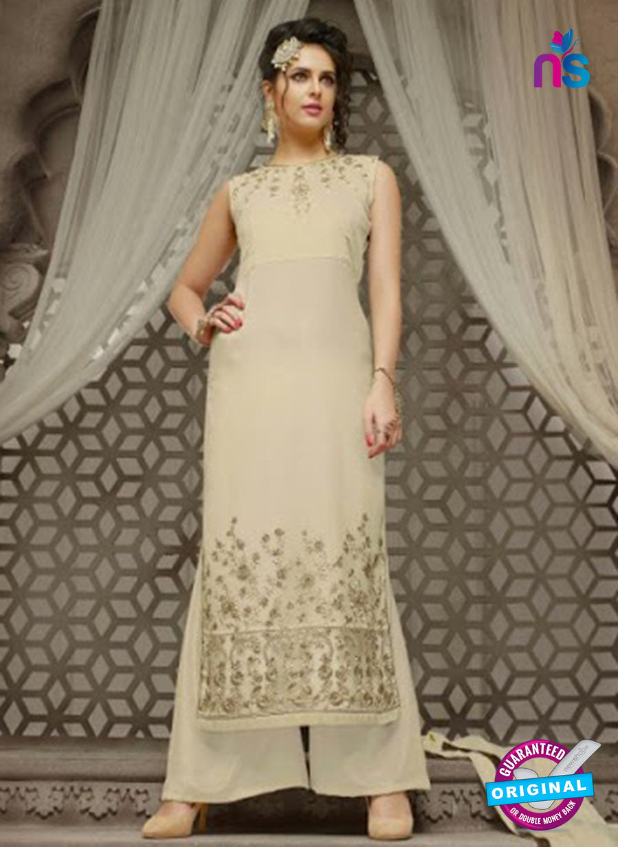 Mehak 21007 Beige Georgette Party Wear Suit
