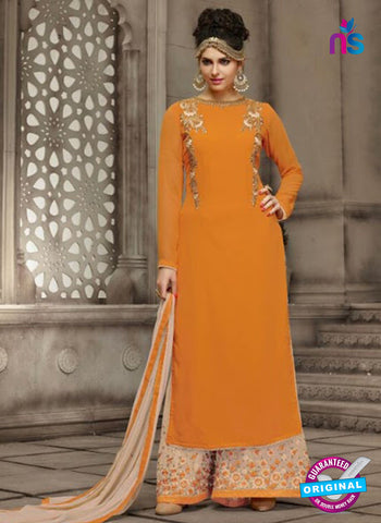 AZ 4033 Orange Georgette Party Wear Suit