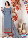 SC 12362 SteelBlue and Multicolor Georgette with Schiffli Work Party Wear Straight Suit