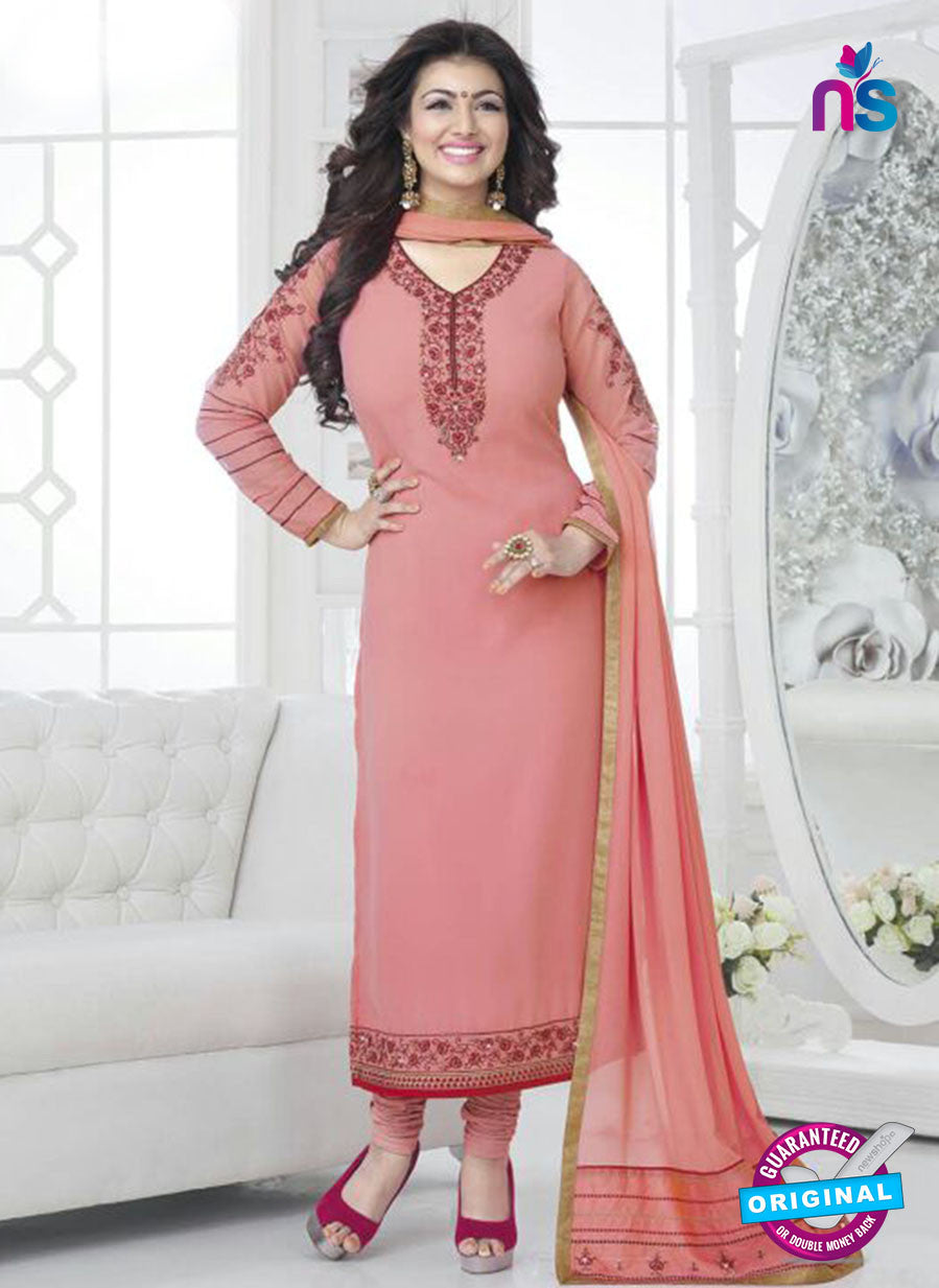Fiona 21033 Pink Faux Georgette Party Wear Straight Suit