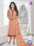 Fiona 21034 Peach and Red Faux Georgette Party Wear Straight Suit