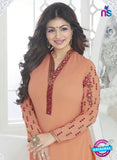 Fiona 21034 Peach and Red Faux Georgette Party Wear Straight Suit Online