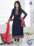 Fiona 21035 Blue and Pink Faux Georgette Party Wear Straight Suit