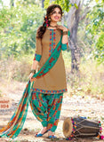 Kalakirti 2104 Brown Color Glace Cotton Designer Suit