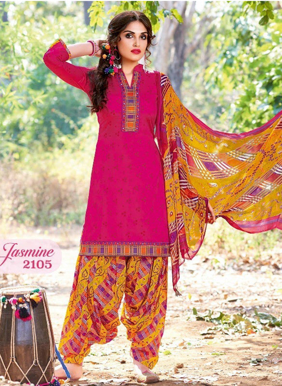 Kalakirti 2105 Pink Color Glace Cotton Designer Suit
