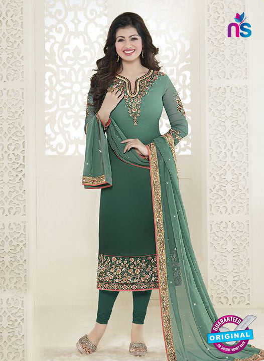 Fiona 21051 Green Faux Georgette Latest Occasion Wear Designer Straight Suit