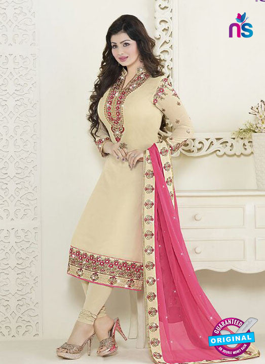 Fiona 21052 Beige Faux Georgette Latest Latest Occasion Wear Designer Straight Suit
