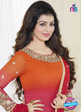 Fiona 21053 Orange, Pink and Maroon Faux Georgette Latest Occasion Wear Designer Straight Suit