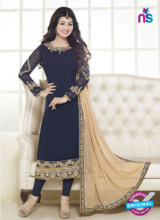 Fiona 21054 Blue Faux Georgette Latest Occasion Wear Designer Straight Suit