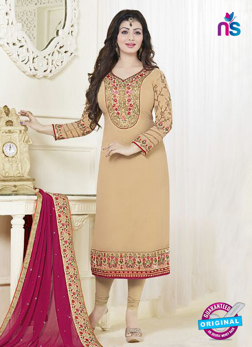 Fiona 21055 Beige Faux Georgette Latest Occasion Wear Designer Straight Suit