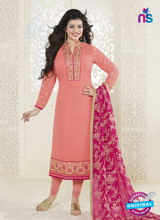 Fiona 21056 Peach Faux Georgette Latest Occasion Wear Designer Straight Suit