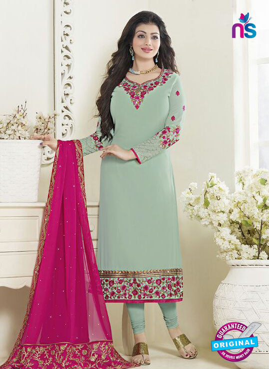 Fiona 21058 Sky Blue Faux Georgette Latest Occasion Wear Designer Straight Suit