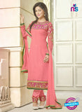 NS10731 Hot Pink and Magenta Georgette Straight Suit