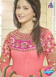 NS10731 Hot Pink Georgette Straight Suit
