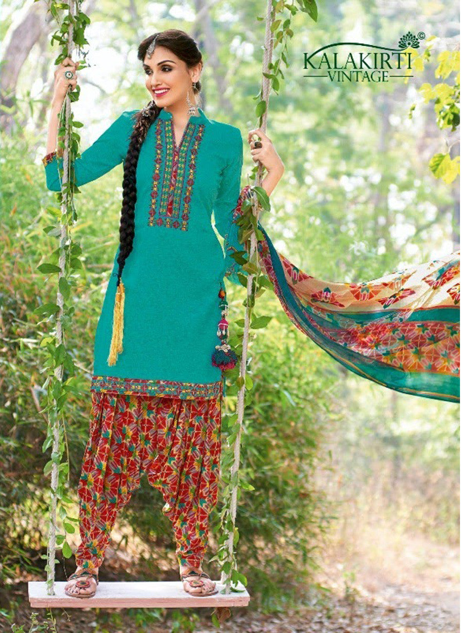 Kalakirti 2110 Blue Color Glace Cotton Designer Suit
