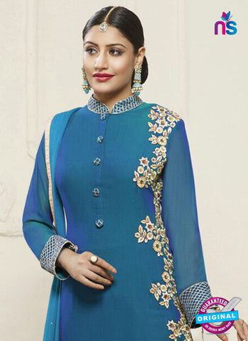 Fiona 21134 Sky Blue Party Wear Suit