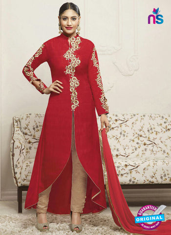 Fiona 21139 Red Party Wear Suit