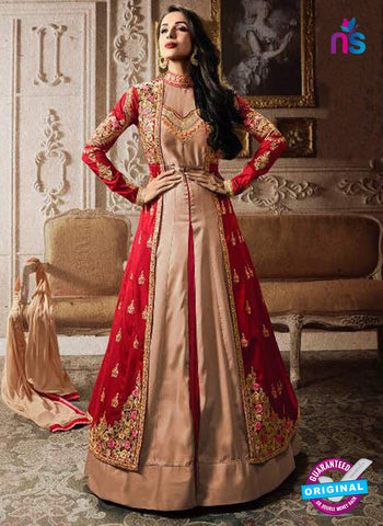 Fiona 21194 Red and Beige Indo Western Suit