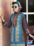 SC 12647 Blue and Multicolor Printed Cambric Pakistani Suit Onlibe